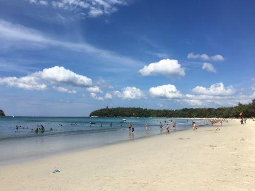 phuket beach blue sky