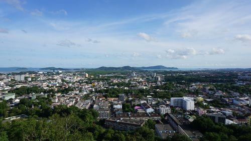 phuket town overlooking the phuket