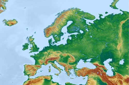 Physical World Of Europe