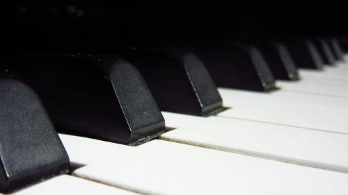 piano keys close