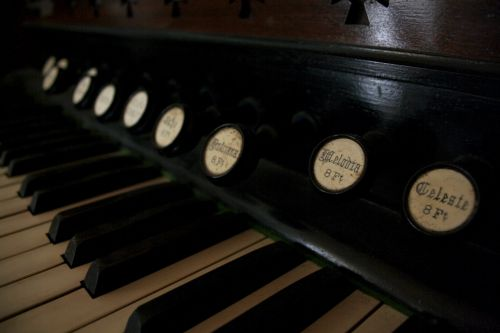 piano keys rustic