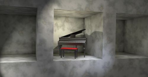 piano shelf stone
