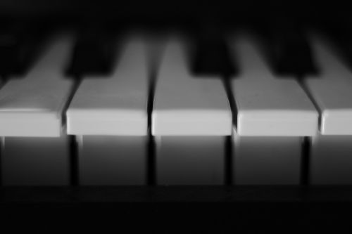 piano keys white