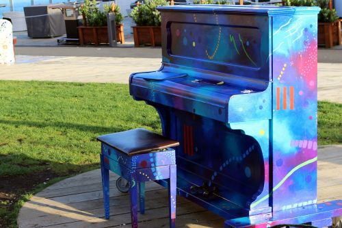 piano colorful outdoor