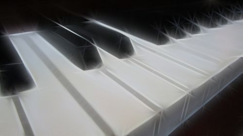 Piano Keyboard With Sparks
