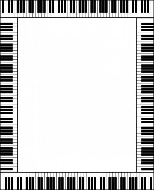 Piano Keyboard Frame Card