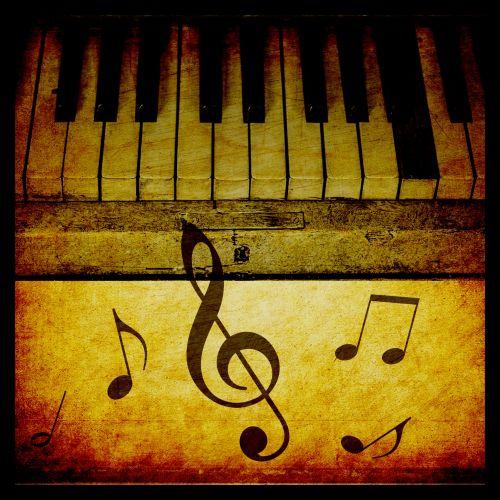 Piano Keys Vintage Background