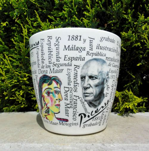 picasso flower pot cup