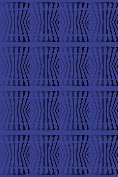 Picket Fence Wallpaper In Blue