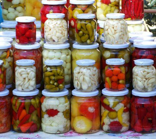 pickled vegetables pickles food