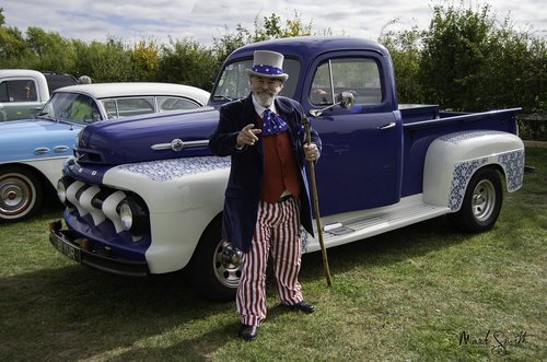 pickup  american pickup  uncle sam