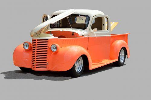 pickup truck retro vintage