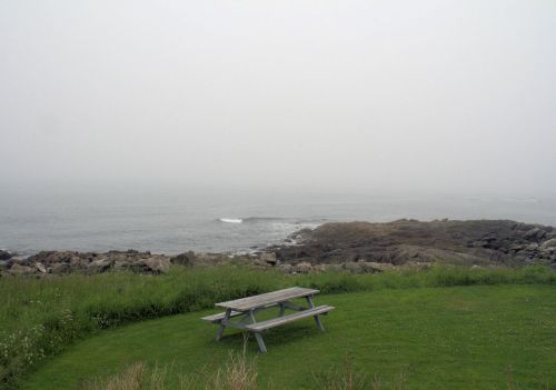 Picnic Table By The Ocean