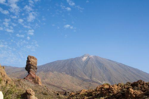 vulkanas, kalnai, kalnas, teide, Canary & nbsp, salos, Ispanija, panorama, vaizdas, pico del teide