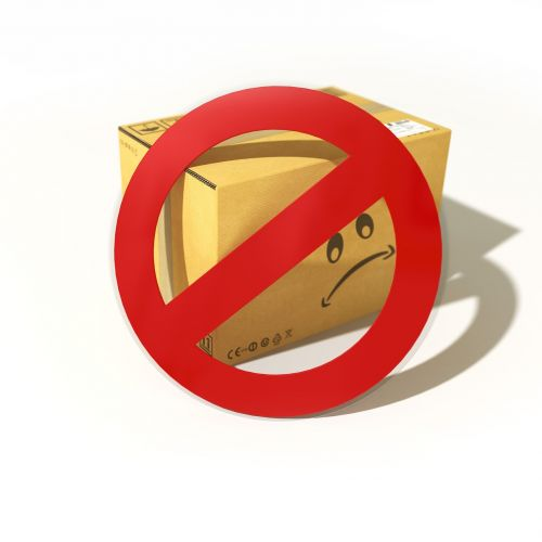 pictogram package ban