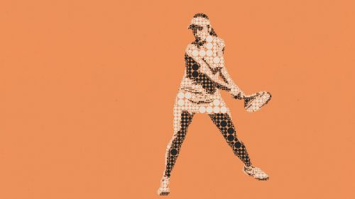 pictogram woman tennis