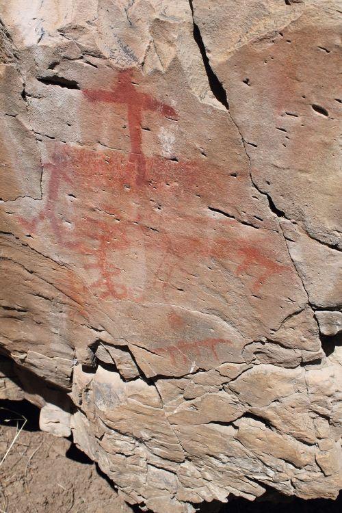 pictograph south fork rock art