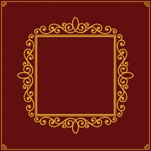 picture frame ornate margin