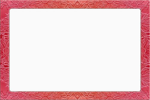 picture frame floral red