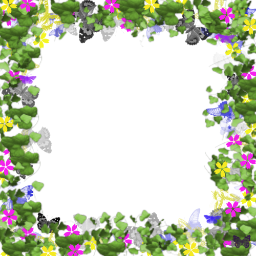 picture frame digital flowers