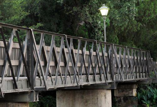 Picturesque Wooden Footbridge