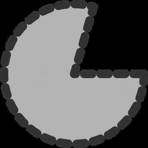 pie chart pacman portion