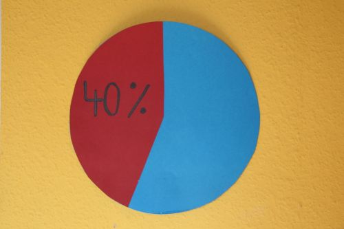 pie chart forty percent percent
