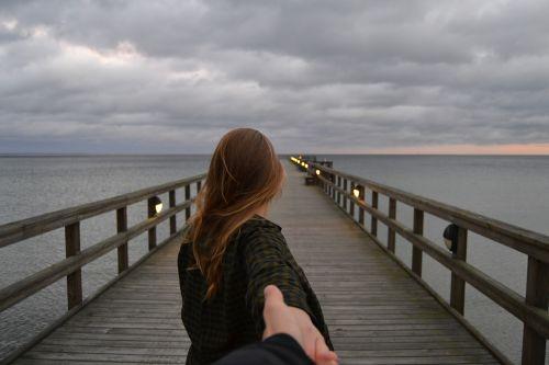 pier girl view