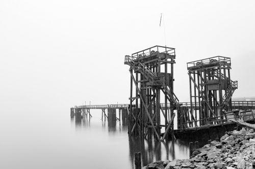 pier mist lake
