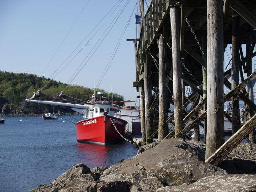 pier poles shoreline