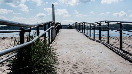pier bridge sea