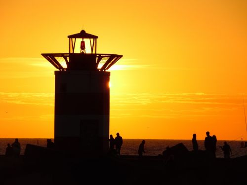 piers scheveningen sunset