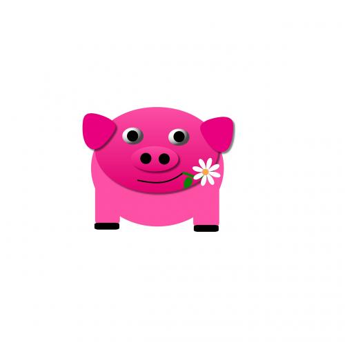 pig pink piglet