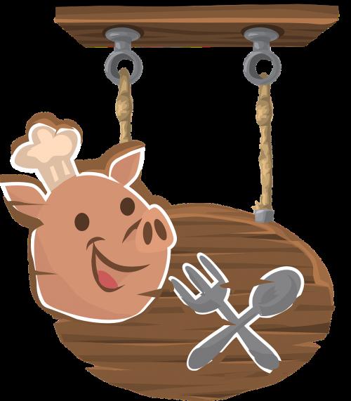 pig pork sign