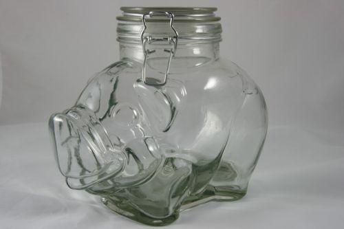 Pig Snap Mason Jar Glass