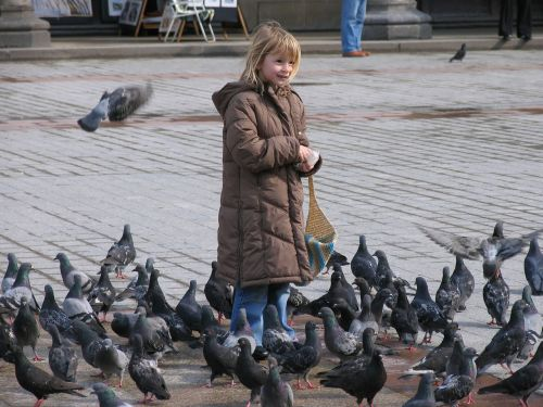 pigeons space girl