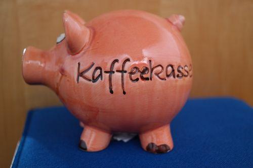 piggy bank coffee checkout checkout