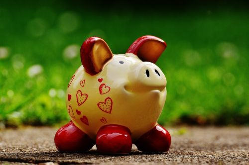 piggy bank heart funny