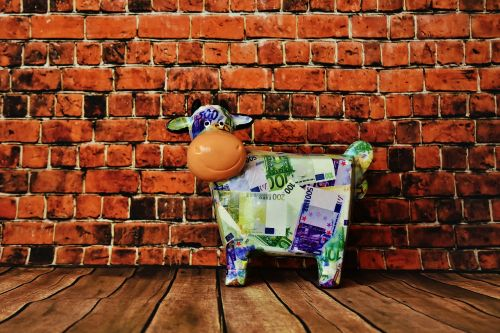 piggy bank cow bank note