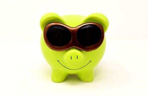 piggy bank sunglasses cool