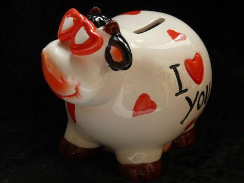 piggy bank savings bank cow