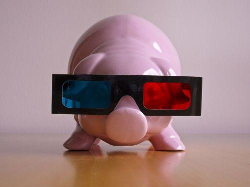 piglet 3 dimensional glasses