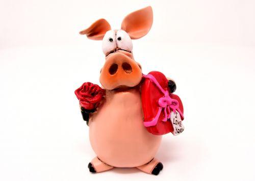piglet figure lucky pig