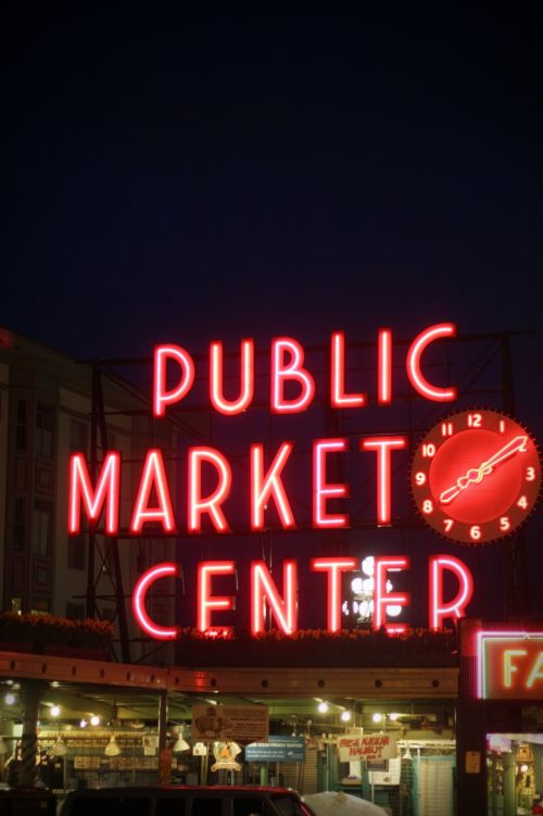 Pike Place Market Neon