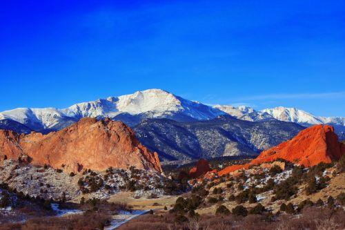 pikes peak mountain garden of the gods