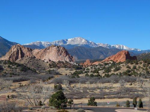 pikes peak  colorado  colorado springs
