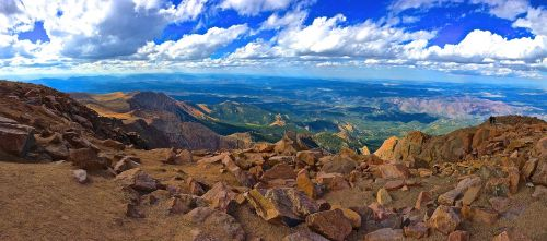 pikes peak mountain sky