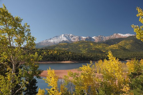 pikes peak highway  colorado  fall