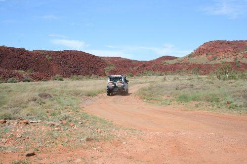 pilbara, Outback, kelias, raudona, dangus, dykuma, karratha, kelionė, lauke, dykuma