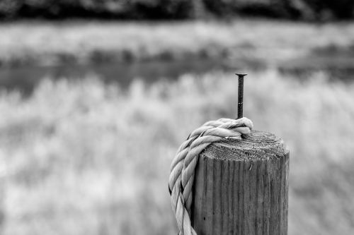 pile rope post